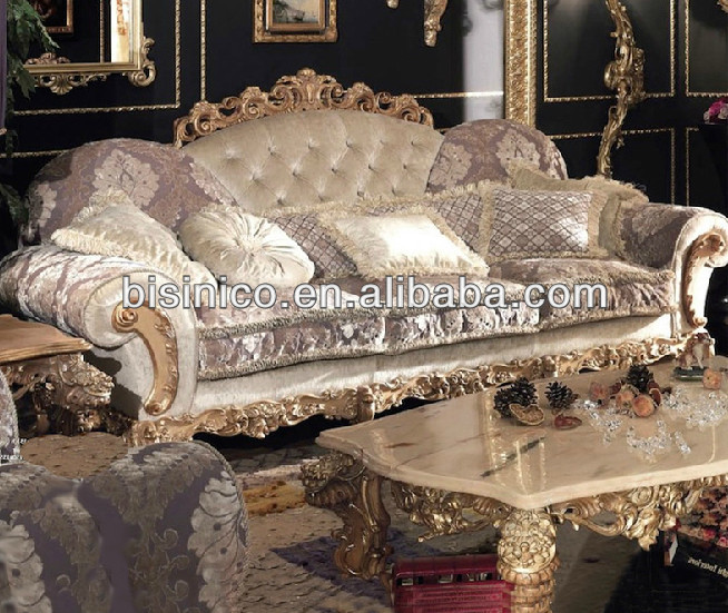 Luxury Living Room Furniture New European Style Sofa Sets Classic Sofa Vie