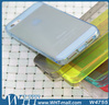 Top Quality Clear Soft Cover TPU Case For iPhone 5 5s With Dust Pluggy