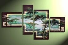 Framed Handmade Canvas African Art Oil Paintings