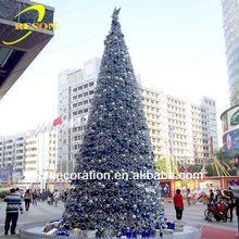 Venda quente da árvore de natal decoração white feather árvore de natal