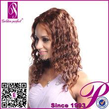 Lady Gaga African American Kinky Curly Bow Light Pink Human Hair Wigs