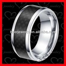 stainless steel black fiber wedding bands TSR0440