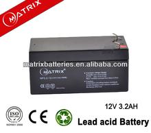Electric Torch Light Battery 12V 3.2AH