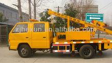 Guardrail emergency repair vehicle trailer pile driver