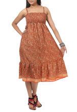 Casual Gaun Dress Handmade Art Silk Dress Summer Dress