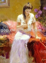 Beautiful Lady Figure Oil Painting