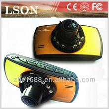 2014 Hot sale 2.7 Inch free sample night vision 1080p dual camera hd mini car camera