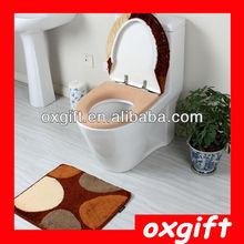 OXGIFT Non-slip bath mats absorbent mat three-piece toilet toilet mat