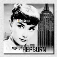 Canvas prints Beautiful Famous art Symbol of the era Audrey Hepburn oil painting fine gift