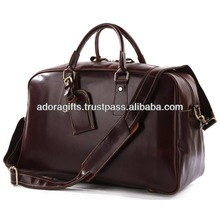 ADATB - 0050 duffel bag with high quality pu leather / men new model duffel bags for design / the simple duffel bag for travel