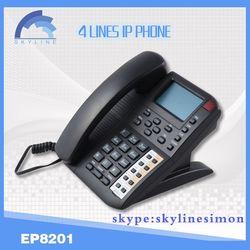 4 line voip phone sip phonewifi sip desk phone