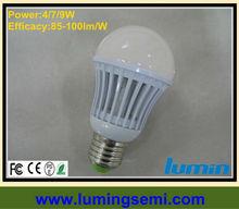 A60 4W 7W 9W E27 LED spotlight bulb B22 E26 E17 90-100lm/W
