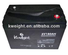 Baterias solar /solar battery/wind system battery 6v180ah deep cycle type
