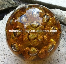 Brown Glass ball /Solid Glass shpere/Marbles /Hand made Art glass