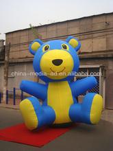 custom inflatable grand blue bear cartoon ,inflatable advertising goods