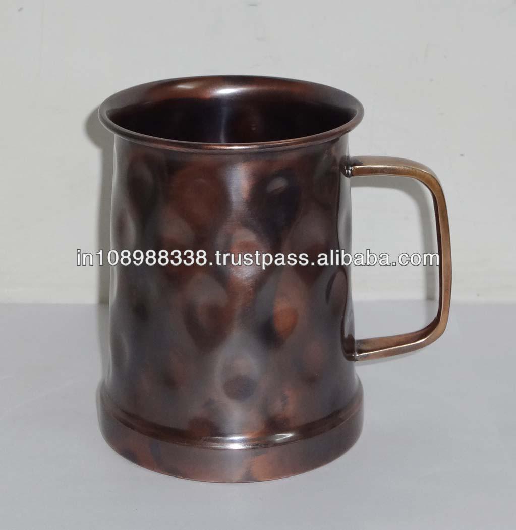 Antique Hammered Copper Mug