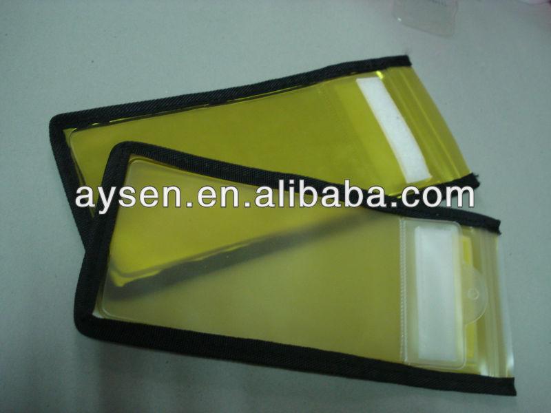 pvc zipper waterproof bag / packaging bag