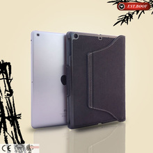 Thick case with stand for ipad 3/4, canvas+bamboo tablet pc case