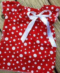Boutique baby summer petti dress polka dots pesant petti dress toddler vintage spotty polka dot red white summer petti dress