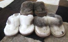 Authentic Lambskin/Sheepskin leather slippers/flip flops for women ladies