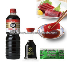 Naturally brewed soy sauce packed in small plastic container