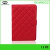 Red Lattice PU Folded Mini series high quality case for mini ipad high quality for ipad mini leather cover