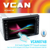 Best 6.2 inch 2din car dvd player with gps navigation and bluetoo with Rear-view function control car dvd players for sale