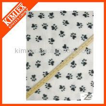Black& white paws animal print polar fleece blankets