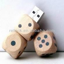wooden dice model USB 2.0 Memory Stick Flash pen Drive enough 4G 8G 16G 32G P134