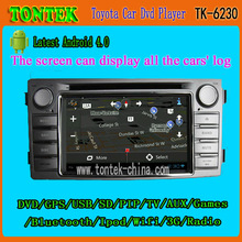 Hot selling 1 din 6.2 inch android gps radio car dvd player for Toyota Hilux