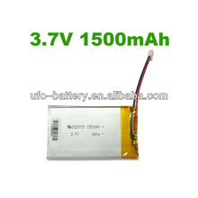 3.7V 1500mAh PL325085 Lithium Polymer Battery for RC car ,RC boat