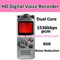 novo hd 1536 kbps online gravador de voz com 50m de gravação e intervalo de núcleo duplo som de redução de ruído