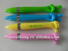 Hot-selling cute design advertising ball pen with finger shape CH-6166, OEM welcome