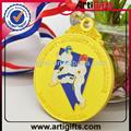 gold metal taekwondo sport medalha com fita