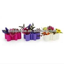 Silicone garden pot, rubber flowerpot, Garden pot&vase for kitchen