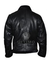 Black Heavy Biker Black Fur Genuine Leather Jacket