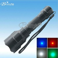 rechargeable tactical high power cree hunting green led flashlight