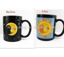 Funky Color Changing Sun/Moon Porcelain Coffee Mug Ceramic Cup