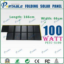 2014 newest 100 watt folding solar panel Shenzhen Portable manufacturers