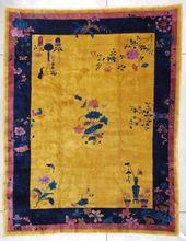 ANTIQUE CHINESE ART DECO ORIENTAL RUG CARPET #7357