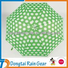 Prettyl White Dots Stick Umbrella For lady