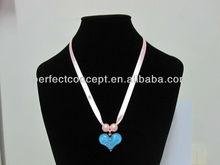 Heart Pendant / Ribbon Tie / Pearl / Necklace / Kids / Children
