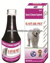 Vitamina E y selenio suplemento alimenticio para perros