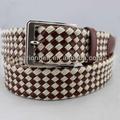 hombres de moda de cuero genuino trenzado cinturón de cuerda para los hombres