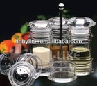 Beautiful acrylic oil and vinegar cruet sets