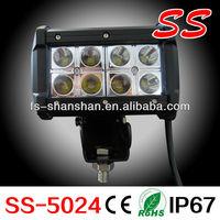 24 watt led light bar,offroad led light bar, motorcycle led light auto ss-5024