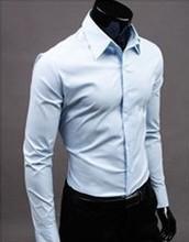 Camisa do negócio por atacado azul liso