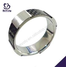 Black painting modern smooth titanium mens rings jewelry