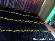 100% Virgin Human unprocessed Hair vietnam hair bulk, Thin Hair
