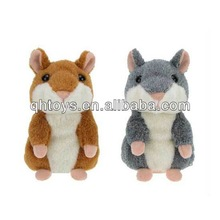 Voice recording talking hamster plush toy for kids